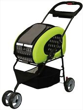Iris Ohyama Adjustable 4-Way Pet Cart Stroller Pet Carrier FPC-920 Green