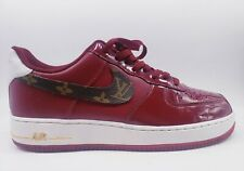 Nike Air Force 1 '07 Burgundy Gold Red White 315122-609 Mens Size 10.5