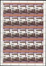 1902 GNR / LNER Ivatt Class C1 4-4-2 Train 50-Stamp Sheet (Leaders of the World)