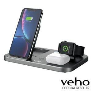 VEHO DS7 QI WIRELESS MULTI CHARGING STATION | TRIO CHARGING - GREY - VWC-004-DS7