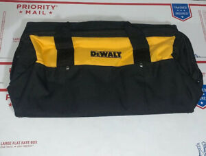 "New Dewalt 19"" x 12"" X 11"" Large Tool Bag/Case For 20 Volt Drill, Saw, Grinder"