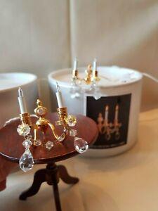 Dolls house Heidi Ott pair of crystal double wall lights