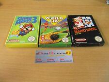 NES Nintendo, SUPER MARIO BROS. 3 , WORLD CUP, MARIO BROS. - OVP - TOP