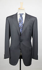 New. BRIONI Palatino Charcoal Gray Wool 3 Roll 2 Button Suit Size 58/48 L $6495