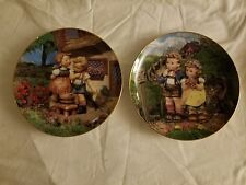 """Hummel 'Squeaky Clean' and 'Little Companions' 8"""" collector plates 241"""