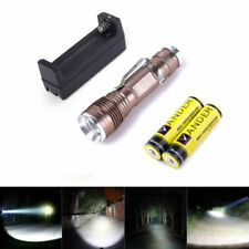 1200 Lumen Flashlight Focus Torch CREE Q5 LED Adjustable Camping+Battery+Charger