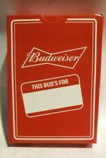 Budweiser Playing Cards Red Bowtie New Sealed Lot 4