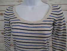 AMERICAN EAGLE Womens Size XS Long Sleeve Striped Shirt Top Scoop Blouse #968