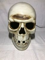 Vintage Skeleton Skull Head Light Up Halloween Blow Mold With Cable