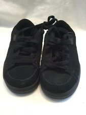 Etnies Kids Kingpin Black Grey Suede Childrens Skate Shoes UK Size 12 BNWOB
