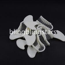 50 Pcs Quadrant Bite Registration Tray Trays Dental Impression Disposable Triple