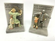 Vintage Norman Rockwell Saturday Evening Post 1995 Going Out and The Gift
