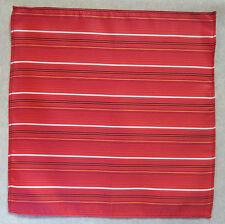 Handkerchief MENS Hankie NEW Top Pocket Square RED BLACK WHITE GOLD STRIPED