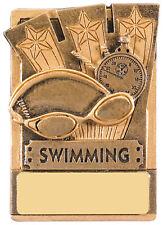 SWIMMING FRIDGE MAGNET TROPHY AWARD 8CM FREE ENGRAVING RK039