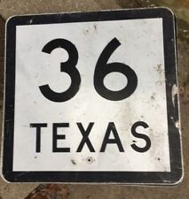 Authentic Retired TEXAS 36 SIGN Highway Texas Football  (24X24)
