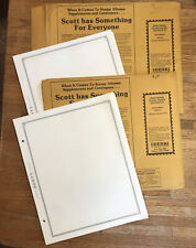SCOTT MINUTEMAN BLANK STAMP PAGES  BORDER D. Vintage  Appx 100 Pages