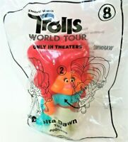 McDONALDS HAPPY MEAL TOYS, DISNEY TROLLS WORLD TOUR #8 DELTA DAWN NEW IN BAG