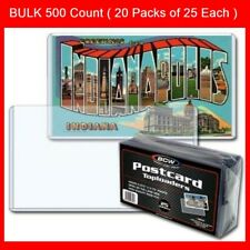 Postcard Sleeves Topload Holders 5 7/8 x 3 3/4 BCW Rigid Protector Bulk 500 Ct.