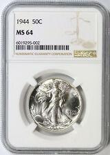 1944 50c Walking Liberty Half Dollar NGC MS64