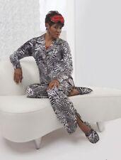 Ashro ladies Plus Size Randa PJ Pant Set Animal Print Zebra Size XXL NWOT