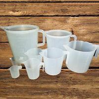 Plastic Measuring 100-1000ml Cup Pitcher Jug Pour Spout Kitchen Tool With