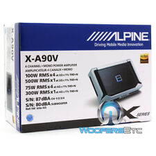 ALPINE X-A90V 5-CHANNEL 900W RMS COMPONENT SPEAKERS SUBWOOFER CAR AMPLIFIER NEW