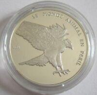 Togo 1000 Francs 2004 Tiere Kampfadler Silber