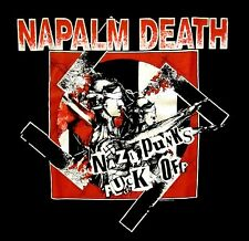 NAPALM DEATH cd cvr NAZI PUNKS F#CK OFF Official SHIRT XL New OOP