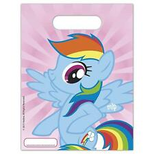 MY LITTLE PONY PACK OF 6 PARTY LOOT BAGS RAINBOW DASH NEW GIFT