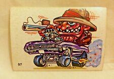 1970S SCANLENS ODDEST ODD RODS STICKER #97 DUMB SAFARI POP-GUN DONRUSS LICENSED!