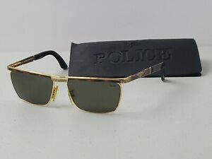 Vintage Rare Police By Eastern States 2144 Sunglasses Frame Gold Tortoise Shell