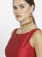 Indian Pakistani Jhumki Pearl Necklace Earring Bollywood Bridal Kundan Jewellery