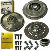 NEW CLUTCH KIT AND LUK DUAL MASS FLYWHEEL, ALL BOLTS FOR VW CADDY BOX 1.9 TDI