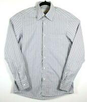 Ermenegildo Zegna Mens Size Medium Long Sleeve Hidden Button-Down Shirt