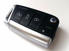 VW Golf VII 7 Klappschlüssel 3-Tasten Gehäuse Schlüssel Rohling chrom 5G BE1 BA5