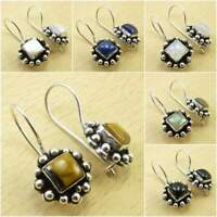 Many Colours, 925 Silver Plated TIGER'S EYE & Other Gemstone Earrings Jewelry