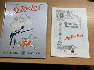 "1958 ""MY FAIR LADY"" SOUVENIR BOOK & PROGRAMME REX HARRISON THEATRE ROYAL (P3)"
