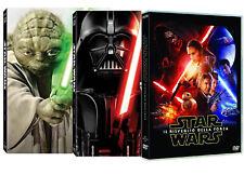 STAR WARS TRILOGY 1,2,3 + TRILOGY 4,5,6  + STAR WARS 7 (7 DVD) SAGA COMPLETA