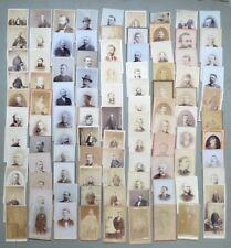 FOTOGRAFIE D'EPOCA. 99 ritratti maschili, periodo anni '60 del 1800, primi 1900
