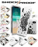 Clear Design Case for Apple iPhone 8 7 Plus Hybrid Armor Shockproof Rubber Cover
