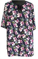 Ladies Plus Size Summer Floral Kaftan Tunic Top Curves UK Size 18/20 EU 46/48