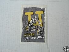 SUKERZAKJE SUGAR BAG DUTCH TT ASSEN 1963  MOTO GP WEGRACE ROADRACE
