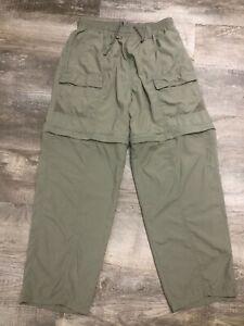 COLUMBIA Mens PFG Convertible Nylon Pants Size L Large Hiking Fishing