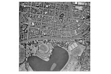 South Melbourne ALBERT PARK LAKE 3rd aerial view 1956 modern digital Postcard