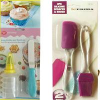 Icing Bottle Spatula Set Piping Nozzle Baking Cake Decor Silicone Brush Glazing