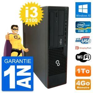 PC Fujitsu Esprimo E910 DT Intel i3-2100 RAM 4Go Disque Dur 1To Windows 10 Wifi