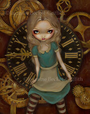 Jasmine Becket-Griffith art print SIGNED Alice in Clockwork steampunk wonderland