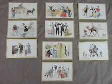 CHROMOS / CHROMO trade cards CHOCOLAT DE L UNIVERS vers 1900 : SCENES DE GENRE