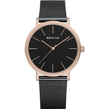 Bering Classic Black Steel Bracelet & Case Watch 13436-166