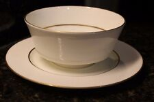 Mikasa - Hunter - Bone China - Gravy Bowl w/ Attached Underplate - 112 Narumi